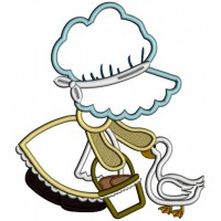 Sunbonnet Doll With a Goose Applique Machine Embroidery Design Digitized