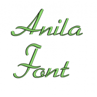 Anila Font Machine Embroidery Script Upper and Lower Case 1 2 3 inches