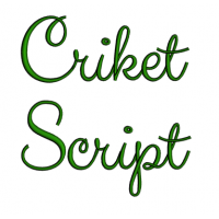 Criket Font Machine Embroidery Script Upper and Lower Case 1 2 3 inches