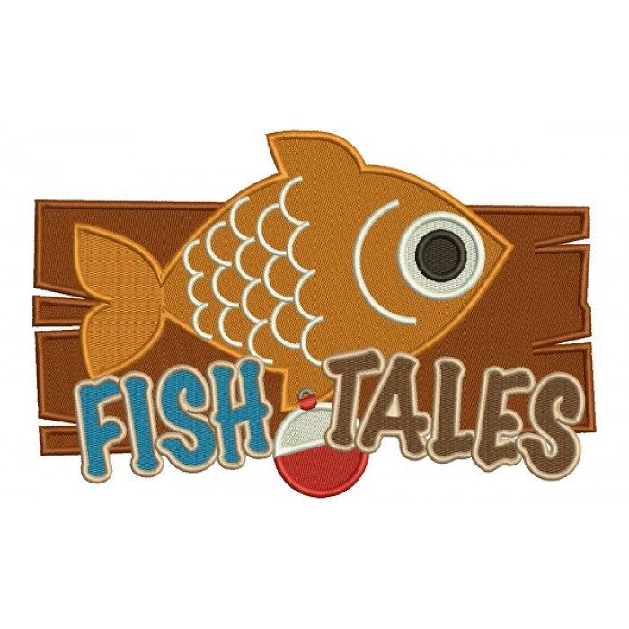 Fish Tales Filled Machine Embroidery Design Digitized Pattern