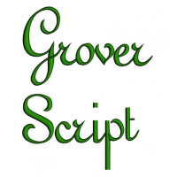 Grover Font Machine Embroidery Script Upper and Lower Case 1 2 3 inches