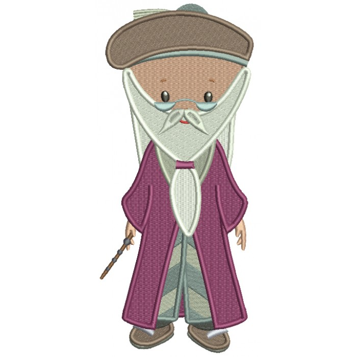 Looks Like Professor Dumbledore From Harry Potter Filled Machine Embroidery Design Digitized Pattern