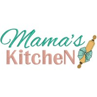 Mama's Kitchen Roller Pin With a Bow Cooking Applique Machine Embroidery Design Digitized Pattern