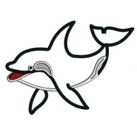 Orca The killer whale Applique Machine Embroidery Digitized Design Pattern