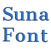 Suna Font Machine Embroidery Script Upper and Lower Case 1 2 3 inches