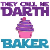 They Call Me Darth Baker Cupcake Applique Machine Embroidery Design Digitized Pattern