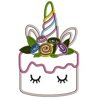 Unicorn Cacke Filled Applique Embroidery Design Digitized Pattern