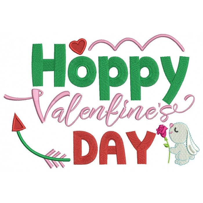 valentine's day little bunny with flower and heart filled machine, Ideas