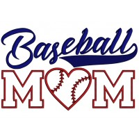 Baseball Mom With a Heart Sports Applique Machine Embroidery Design Digitized Pattern