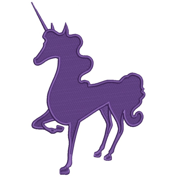 Majestic Unicorn Filled Machine Embroidery Digitized Design Pattern