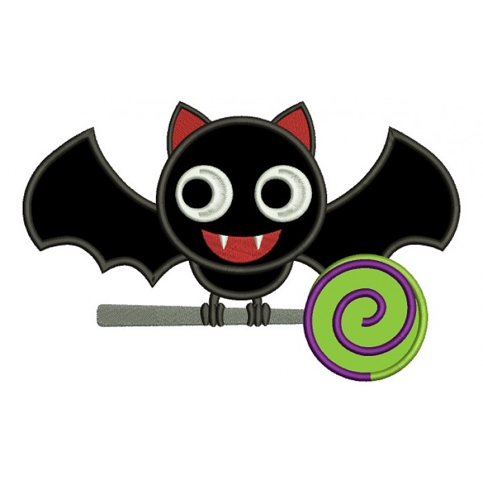 Cute Vampire Bat Sitting On A Lollipop Lique Machine Embroidery Digitized Design Pattern 700x700 Jpg