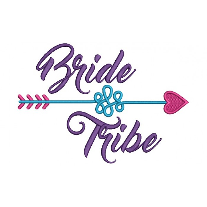 Bride Tribe Wedding Filled Machine Embroidery Digitized Design Pattern