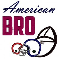 American Bro Sports Applique Machine Embroidery Digitized Design Pattern