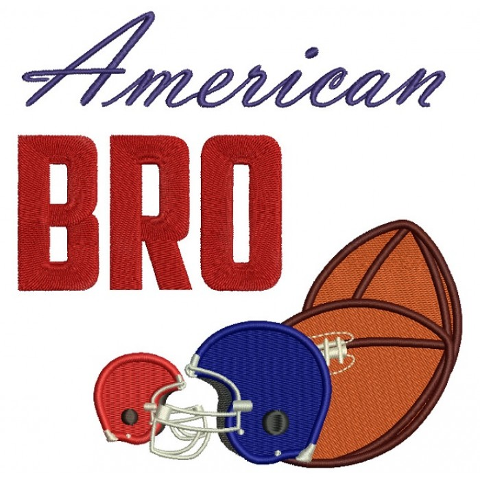 American Bro Sports Filled Machine Embroidery Digitized Design Pattern