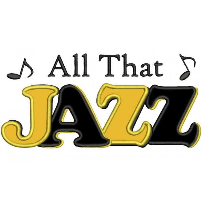 All That Jazz Music Applique Machine Embroidery Digitized Design Pattern