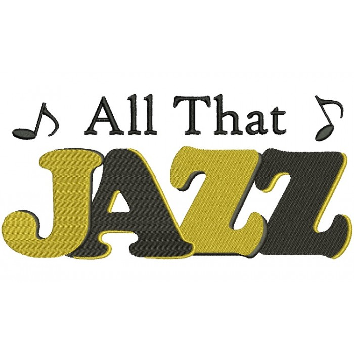 All That Jazz Music Filled Machine Embroidery Digitized Design Pattern