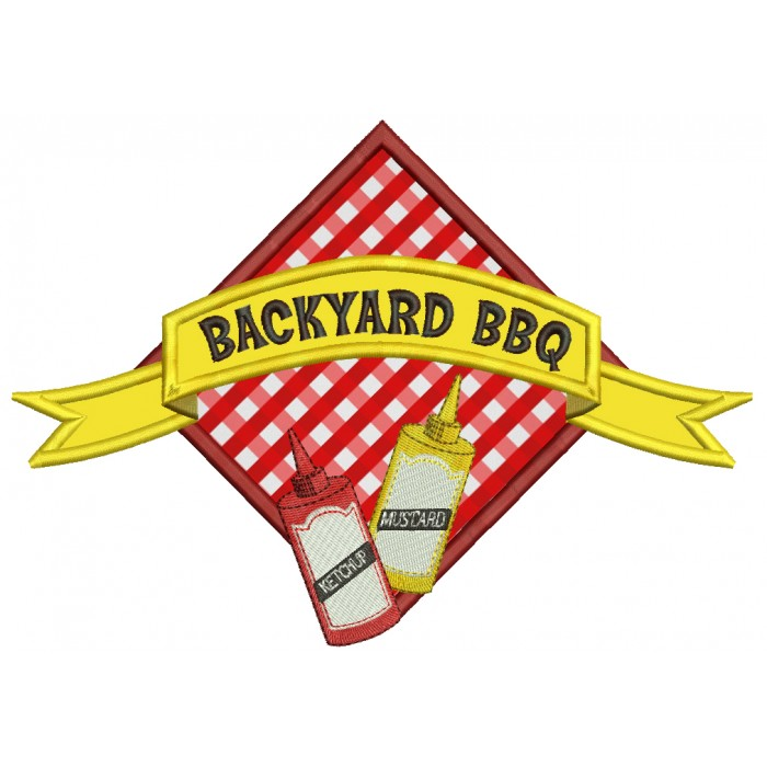 Backyard BBQ Food Applique Machine Embroidery Digitized Design Pattern