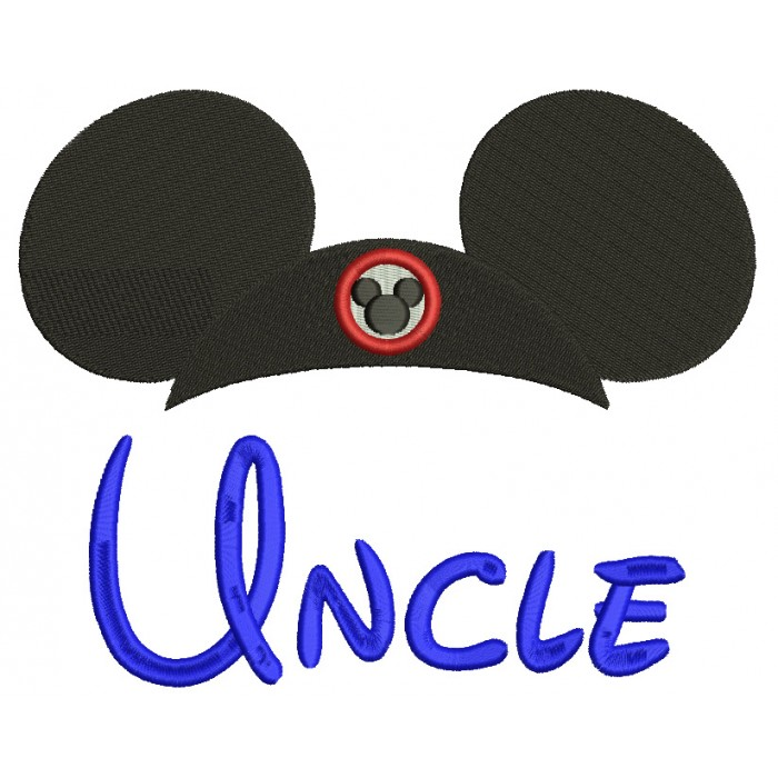 Uncle Mouse Ears looks like Mickey Mouse Fileld Machine Embroidery Digitized Design Pattern