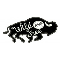 Wild And Free Bison Applique Machine Embroidery Design Digitized Pattern