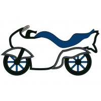 Sports Motorcycle Applique Machine Embroidery Design Digitized Pattern