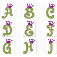 Crown Filled Machine Embroidery Font