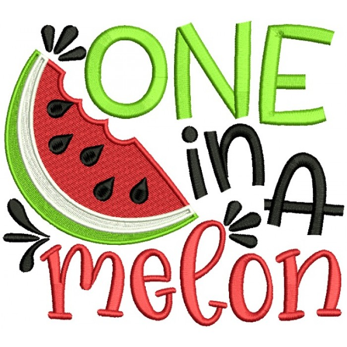 One In a Mellon Filled Machine Embroidery Design Digitized Pattern