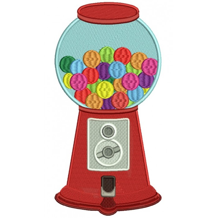 Bubble Gum Machine Filled Machine Embroidery Design Digitized Pattern
