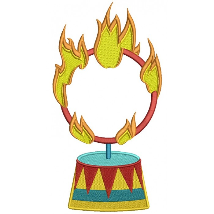 Circus Fire Ring Filled Machine Embroidery Design Digitized Pattern