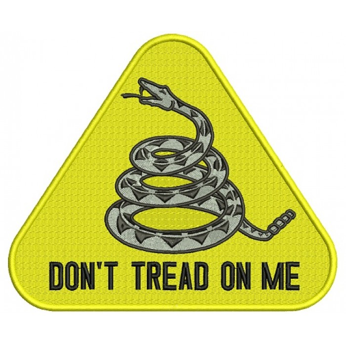 Dont Tread On Me Yellow Rattlesnake From Gadsden Flag Filled Machine Embroidery Design Digitized Pattern 700x700g