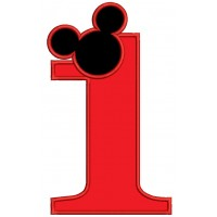 Looks Like Mickey Ears First Birthday Applique Machine Embroidery Design Digitized Pattern