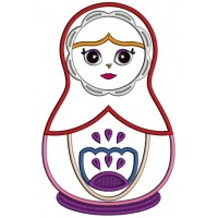 Russian Nesting Doll Matryoshka Applique Machine Embroidery Design Digitized Pattern