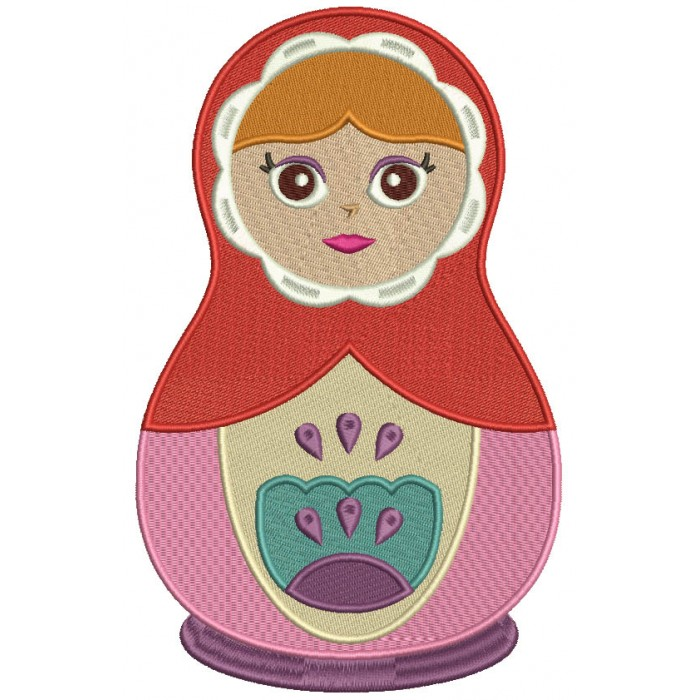 Russian Nesting Doll Matryoshka Filled Machine Embroidery Design Digitized Pattern
