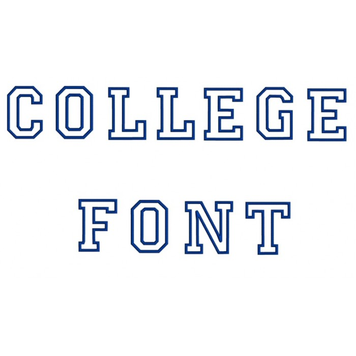 College Embroidery Font Script - Instant Download - (Upper Case) Machine  Embroidery Design - 4,5,6 inches
