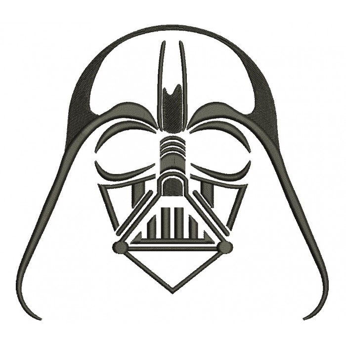 Darth Vader From Star Wars Filled Machine Embroidery Design