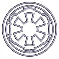Galactic Empire Symbol from Start Wars Applique Machine Embroidery Design Digitized Pattern