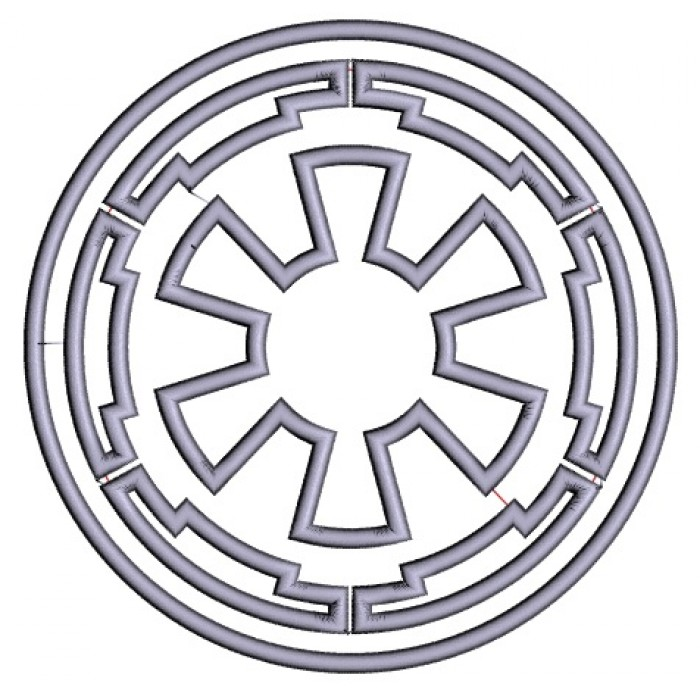 Galactic Empire Symbol From Start Wars Applique Machine Embroidery