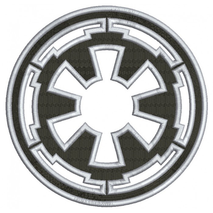 Galactic Empire Symbol from Start Wars Filled Machine Embroidery Design Digitized Pattern
