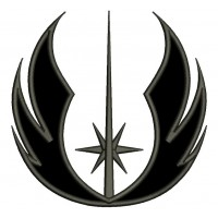 Jedi Order Symbol from Start Wars Applique Machine Embroidery Design Digitized Pattern