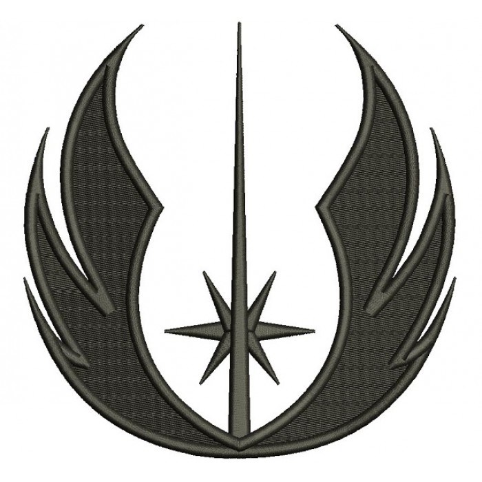 Jedi Order Symbol from Start Wars Filled Machine Embroidery Design Digitized Pattern