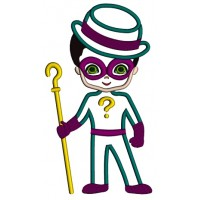 Looks Like Riddler From Batman Applique Machine Embroidery Design Digitized Pattern