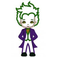 Looks Like a Joker From Batman Applique Machine Embroidery Design Digitized Pattern