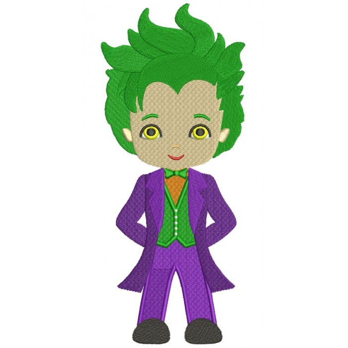Looks Like a Joker From Batman Filled Machine Embroidery Design Digitized Pattern
