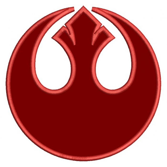 Star Wars Rebel Alliance Symbol Applique Machine Embroidery Design Digitized Pattern