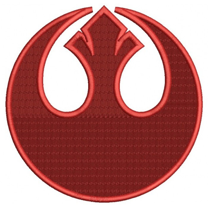 Star Wars Rebel Alliance Symbol Filled Machine Embroidery Design Digitized Pattern