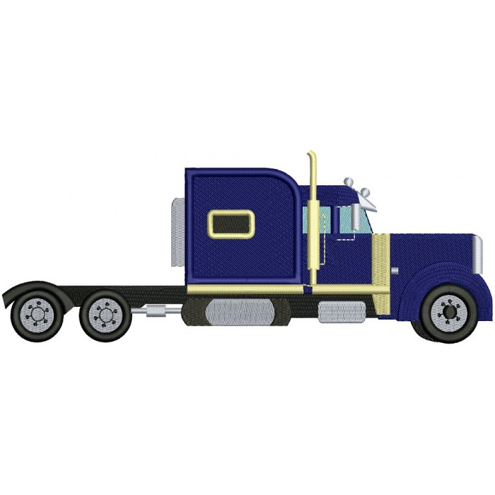 Truck Filled Machine Embroidery Design Digitized Pattern