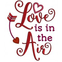 Love Is In The Air Applique Machine Embroidery Design Digitized Pattern