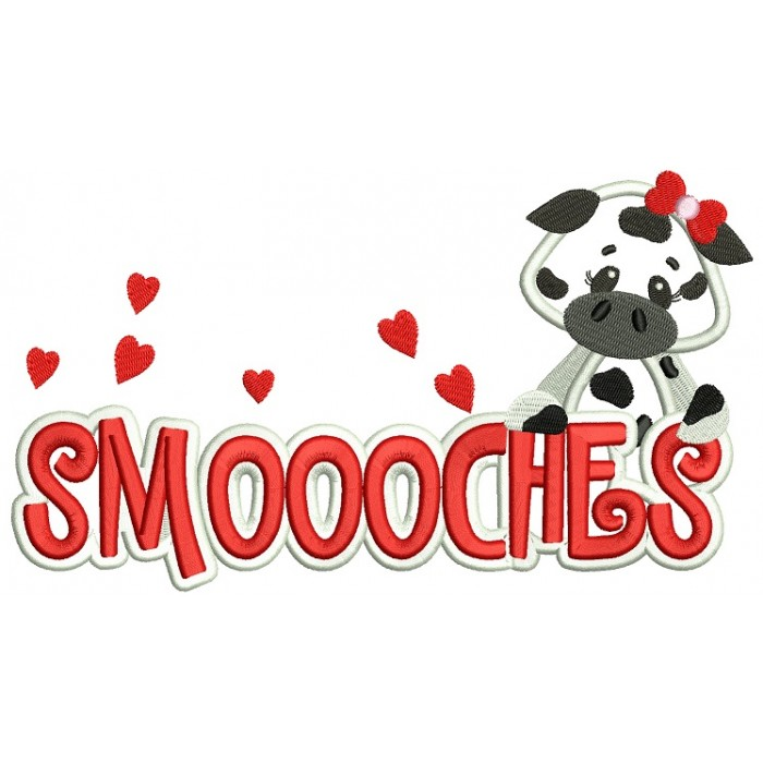 Smoooches Cow Applique Machine Embroidery Design Digitized Pattern
