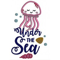 Under The Sea Cute Octopus Applique Machine Embroidery Design Digitized Pattern