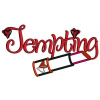 Tempting Lipstick Love Applique Machine Embroidery Design Digitized Pattern