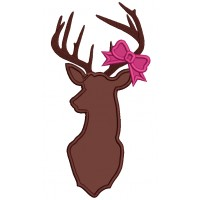 Deer with a Bow Hunting Applique Machine Embroidery Design Digitized Pattern